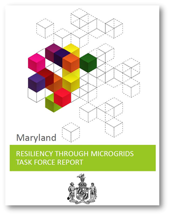 cover of the Maryland Resiliency through Microgrids Task Force Report